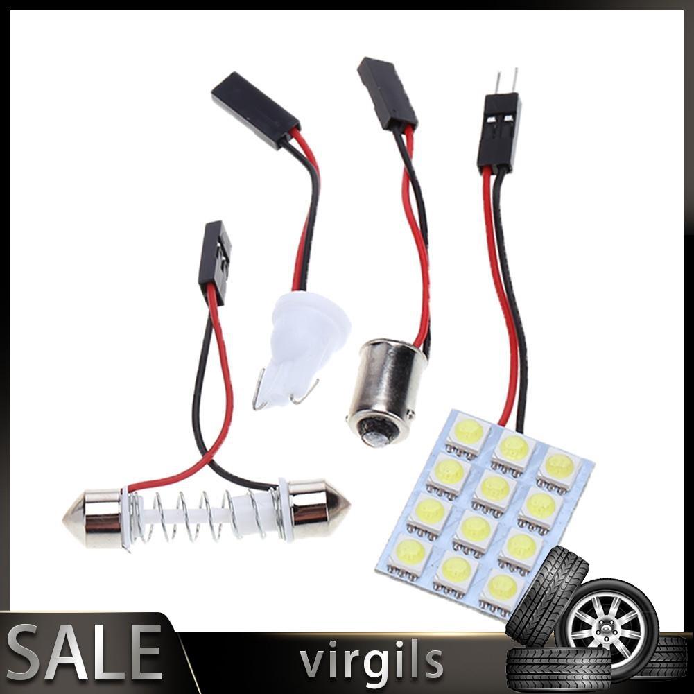 Reliable☬DC 12V 5050 12SMD LED White Light Car Interior T10 Festoon BA9s Lamp Panel