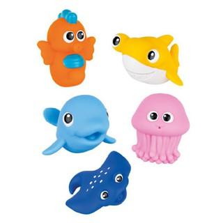 Bộ đồ chơi trẻ em sinh vật biển Winfun thả vào chậu khi tăm cho bé gồm 5 món chất liệu nhựa an toàn