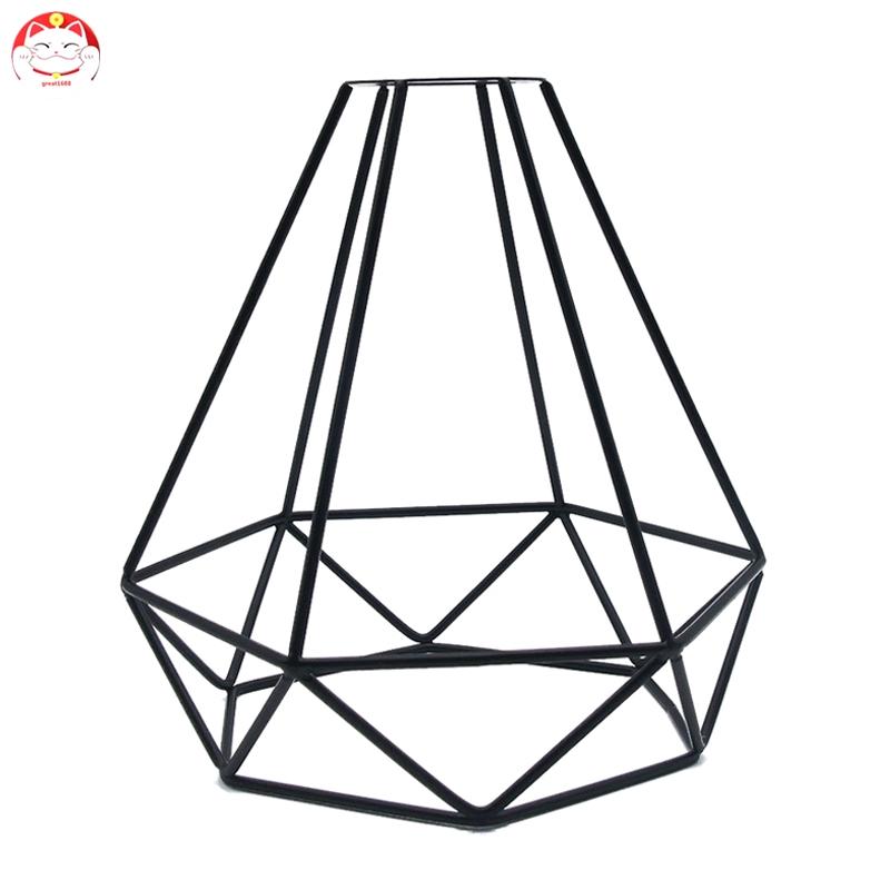 ✂GT⁂ Geometric Pendant Metal Lamp Guard Retro Vintage Ceiling Light Shade Iron Cage