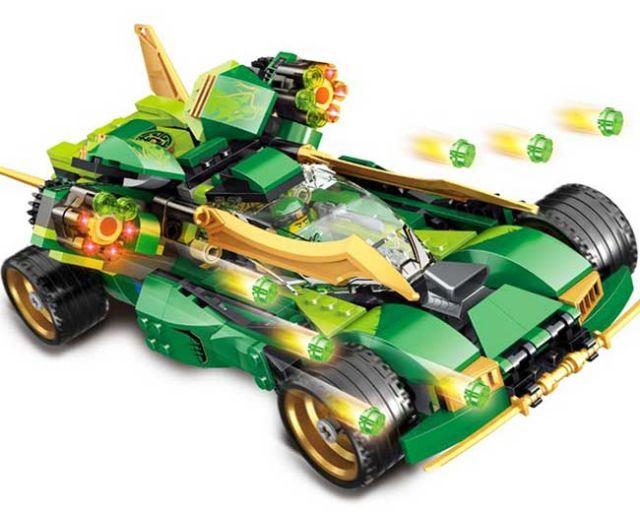 Đồ chơi lắp ráp Lego ninja xe đua bóng đêm ninjago bela10803.