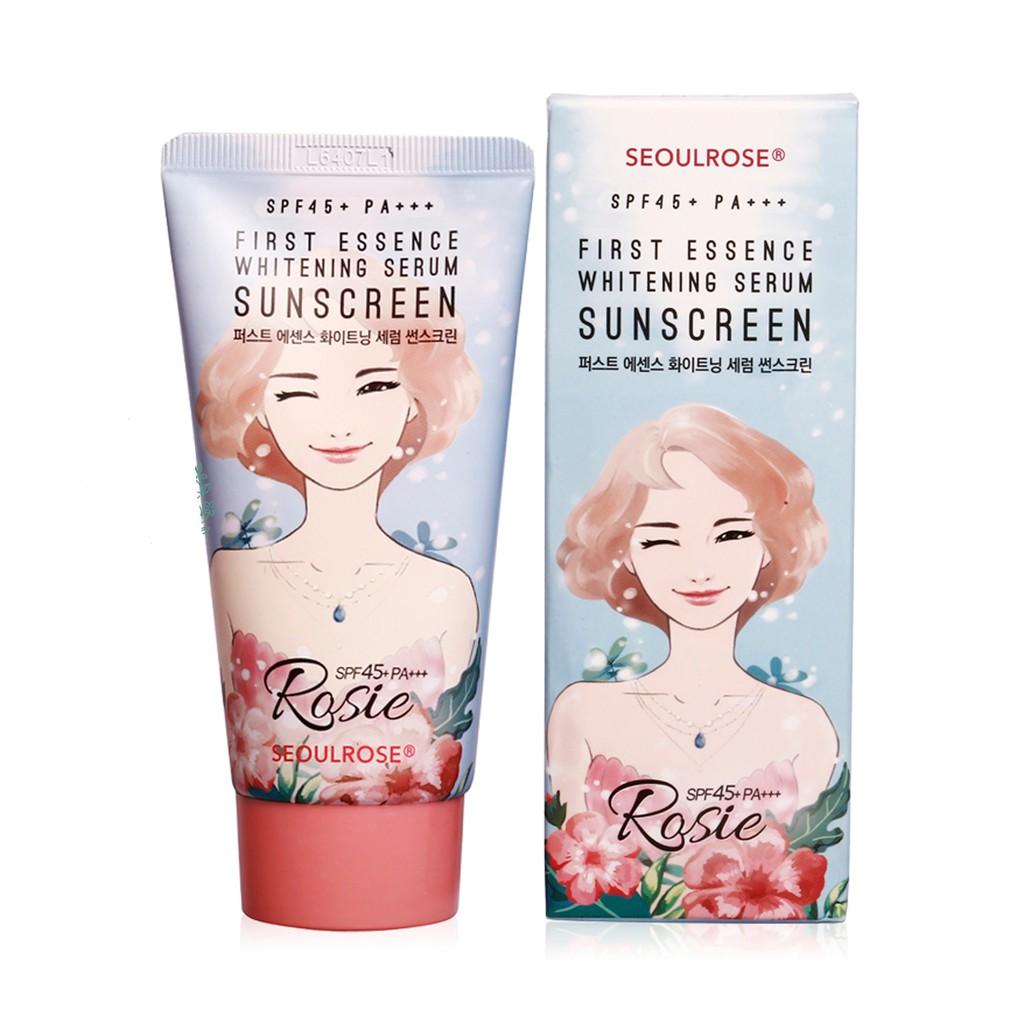 Kem Chống Nắng Rosie First Essence Whitening Serum Sunscreen | Shopee Việt  Nam