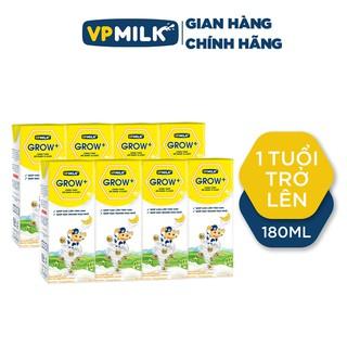 [HƯƠNG VỊ SỮA MỚI – ORDER] Sữa Tươi Tiệt Trùng VPMilk Grow+ Vị Dâu. Vị Chuối, Lốc 4 Hộp 180ml