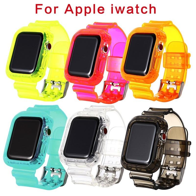 Dây Đeo Silicone Mềm Cho Đồng Hồ Thông Minh Apple Watch 6 5 4 3 2 38 / 42 / 40 / 44mm