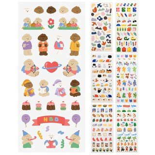 Sticker chống thấm nước kiểu hoạt hình xinh xắn đáng yêu phong cách Hàn Quốc