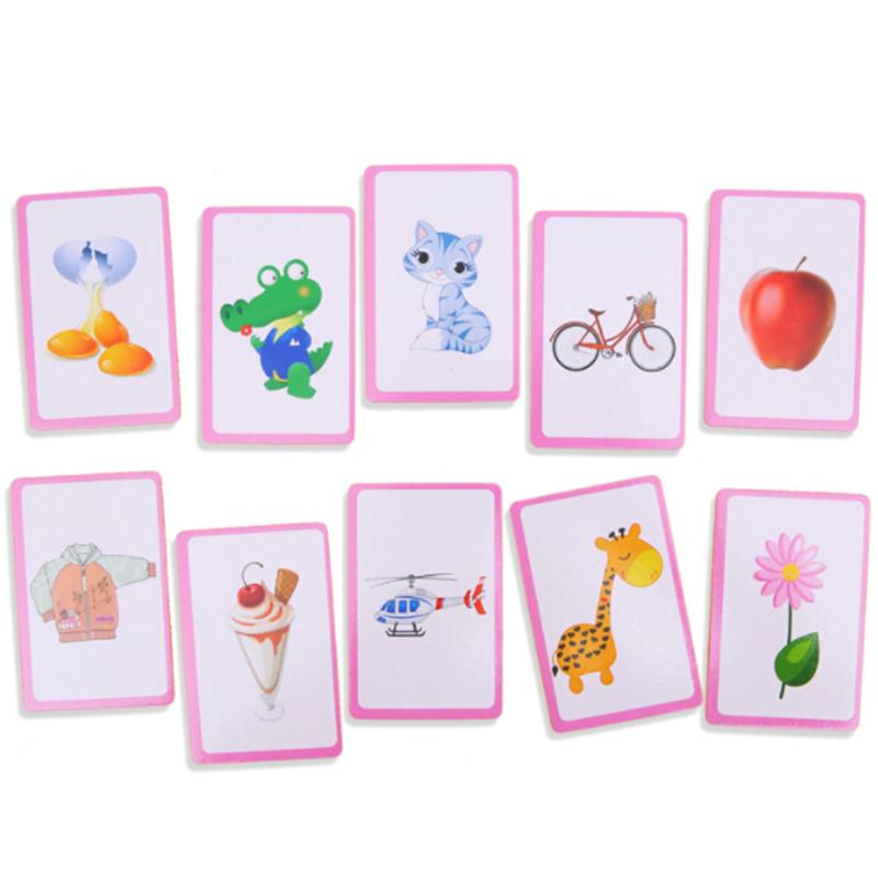 Flash Cards Learn English Word Number Kid Baby Literacy Game Educational Pick 1