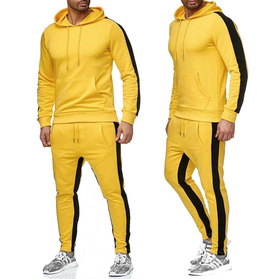 Wandergo Zogaa Brand Men Sweat Suit Set Gyms Bodybuilding Workout Clothing Two