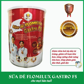 Sữa dê dành cho người viêm loét, trào ngược dạ dày, táo bón Flomilux Gastro F5 850g