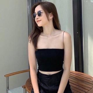 Áo 2 dây ôm body siêu Hot 3 màu đen, trắng, be thumbnail