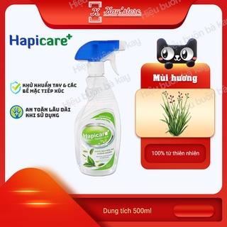 [SẢ HOA HỒNG] Chai xịt khuẩn HapiCare+ (500ml) Dung dịch rửa tay sát khuẩn Nước khử khuẩn Xịt rửa tay khô thumbnail