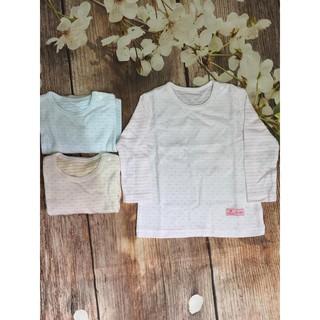 Áo dài tay cài vai bé trai bé gái Lullaby cotton 2 lớp BST đông (Hàng Sale) thumbnail