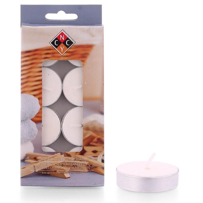 Hộp 8 nến tealight thơm cao cấp hương Fresh Linen NYCandle FtraMart EDC-NYC08 (Trắng)