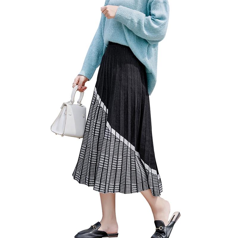 Chân Váy Dài Họa Tiết Ca Rô Thời Trang Dành Cho Nữ