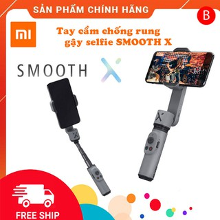 Gimbal Zhiyun Smooth X Chống rung cho điện thoại kết hợp gậy tự sướng,gậy selfie(HÀNG CHÍNH HÃNG,NGUYÊN SEAL BH 6 THÁNG)