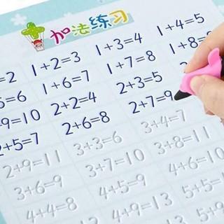 vở in chữ in số in hình vẽ viết trong vòng 10 phút mực sẽ tự bay hết bé có thể viết đi viết lại bao nhiều lần