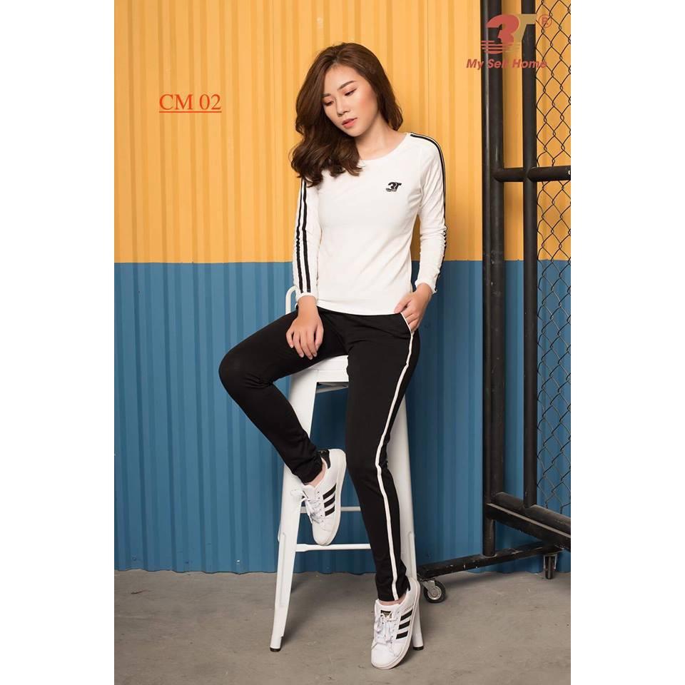 Đồ bộ mặc nhà 3T My Self Home - Bộ thể thao cotton quần dài ,áo dài-CM02