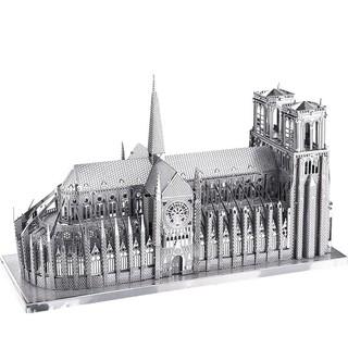 Mô hình lắp ráp kim loại Nhà thờ Đức Bà Paris Piececool P016-S