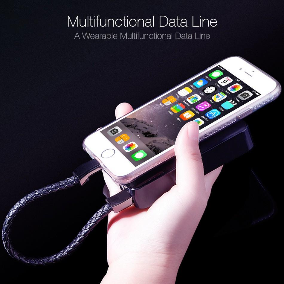 Cáp Sạc Nhanh Kiểu Vòng Tay Độc Đáo Cho Iphone / Android