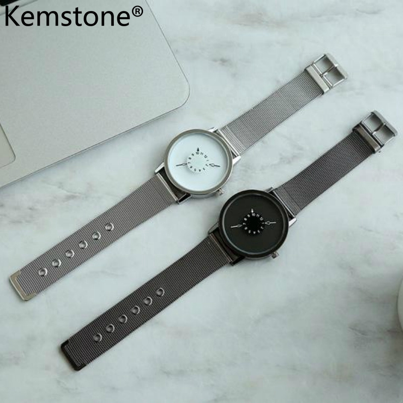 Kemstone Stainless Steel Alloy Handstand Men Women Couple's Watch Jewelry Gift