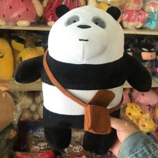 Gấu trúc we are bear panda nhồi bông đeo cặp size 35cm