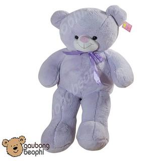 [ HOT 2019 ] Gấu Teddy Lông Bột Màu Tím Hàng Cao Cấp Khổ Vải 80CM