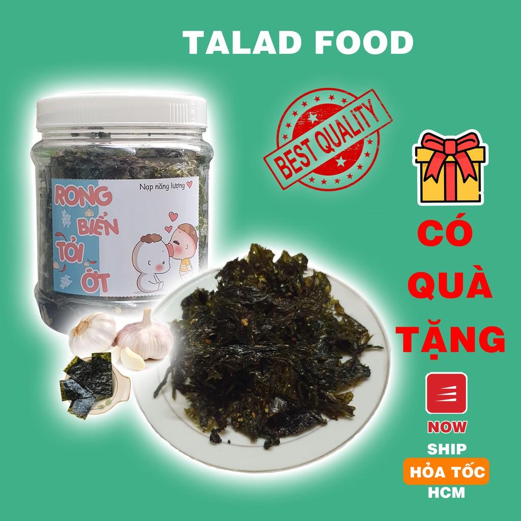 rong biển cháy tỏi TALAD FOOD, ăn vặt Sài Gòn, siêu ngon siêu rẻ