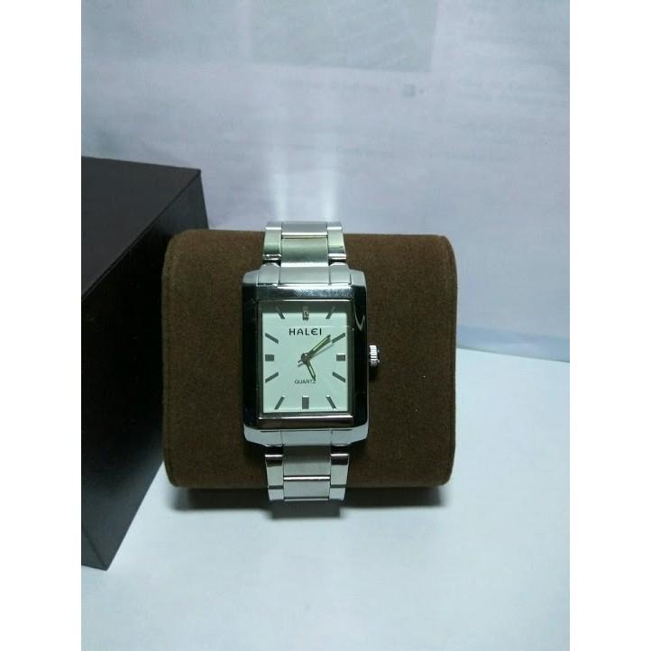 Đồng hồ nam nữ Halei mặt vuông màu trắng cực chất