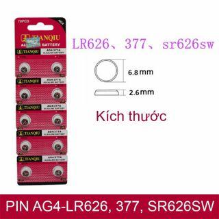 1 Viên Pin Đồng Hồ AG4 , SG4 , LR626 , 377 , SR626SW , SR626