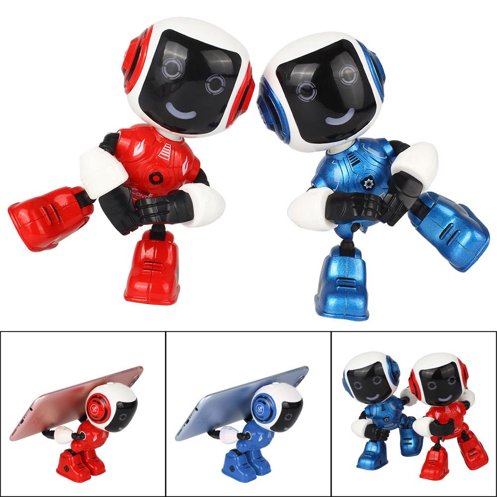 【COD】Electric LED Sound Intelligent Alloy Robot Toys Novelty Phone Stand