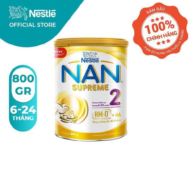 Sữa Bột Nestlé NAN SUPREME 2 – Hộp 800gram