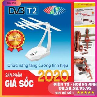 AngTen Tivi DVB T2 thông minh thu sóng 100 dặm – ăng ten TV kỹ thuật số Trong nhà ngoai trời
