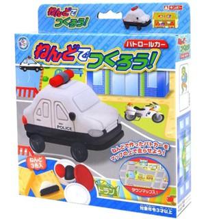 """Bộ đồ chơi đất nặn bằng bột gạo """"Mô hình xe cảnh sát"""" GINCHO (Hàng nội địa Nhật)"""