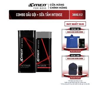 Combo dùng thử Dầu gội – Sữa tắm X-men For Boss Intense hương trầm ấm 380g/Chai