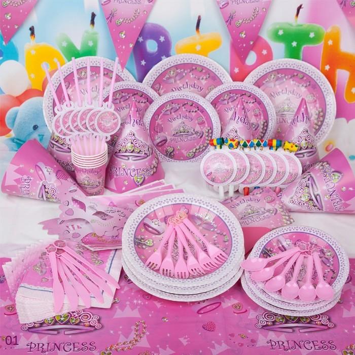 Set trang trí bàn tiệc sinh nhật Công chúa