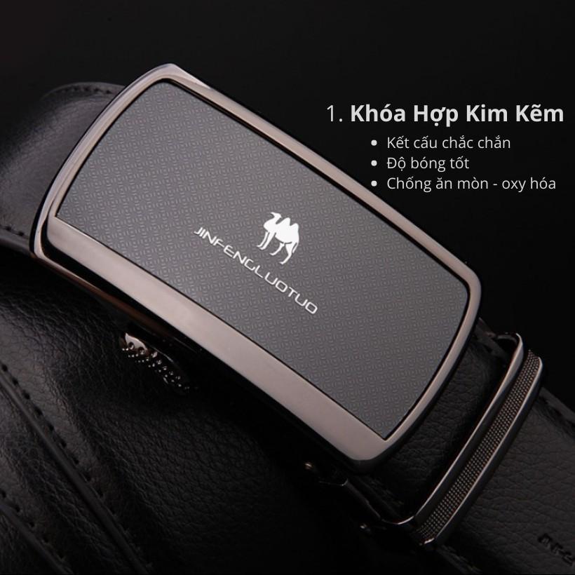 (NEW 2020 Men's Leather Belts) Bảo Hành 2 Năm - Dây Nịt Thắt Lưng Da Lạc Đà Thật Cao Cấp - Hàng Nhập Nam Nữ