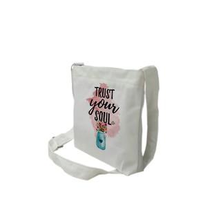 [Mã FAMALLT5 giảm 15% đơn 150K] Túi tote mini đeo chéo vải canvas mềm, dày TROY in hình Just your soul thumbnail