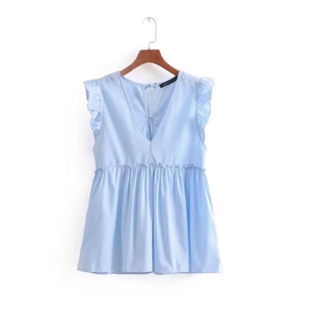 Áo cánh tiên xanh mint