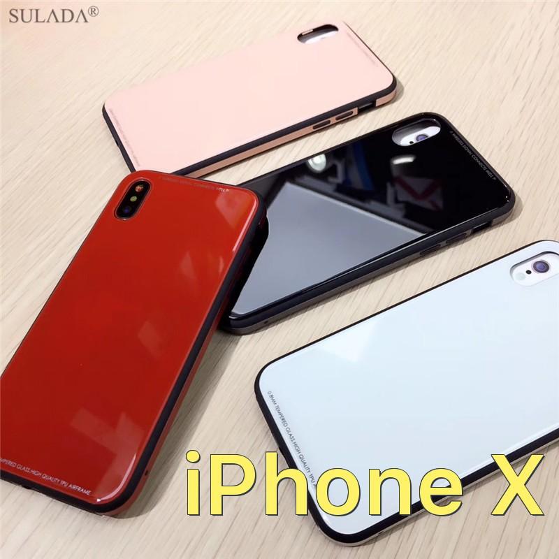 Ốp lưng gương kính cường lực chính hãng Sulada cho iPhone X