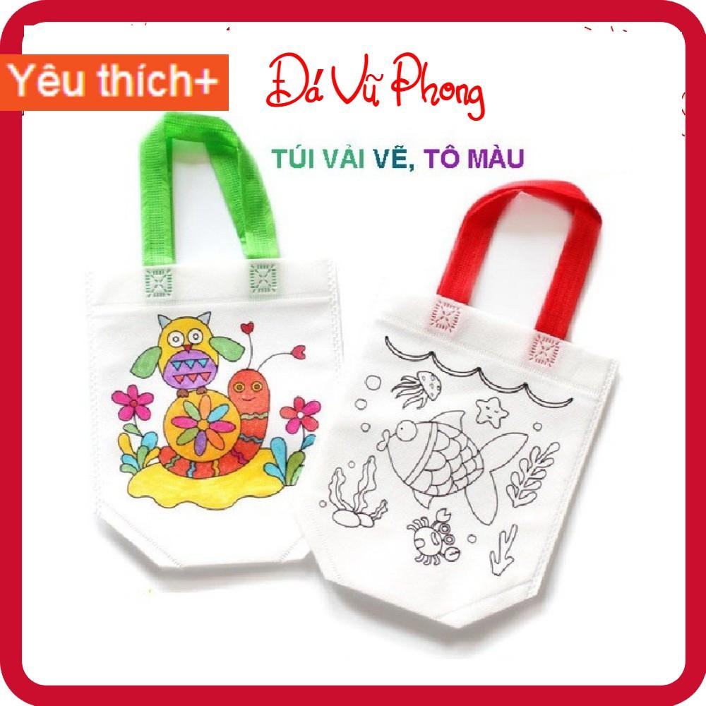 Túi vải vẽ,Túi vải tô màu cho bé phát triển tư duy năng khiếu hội họa