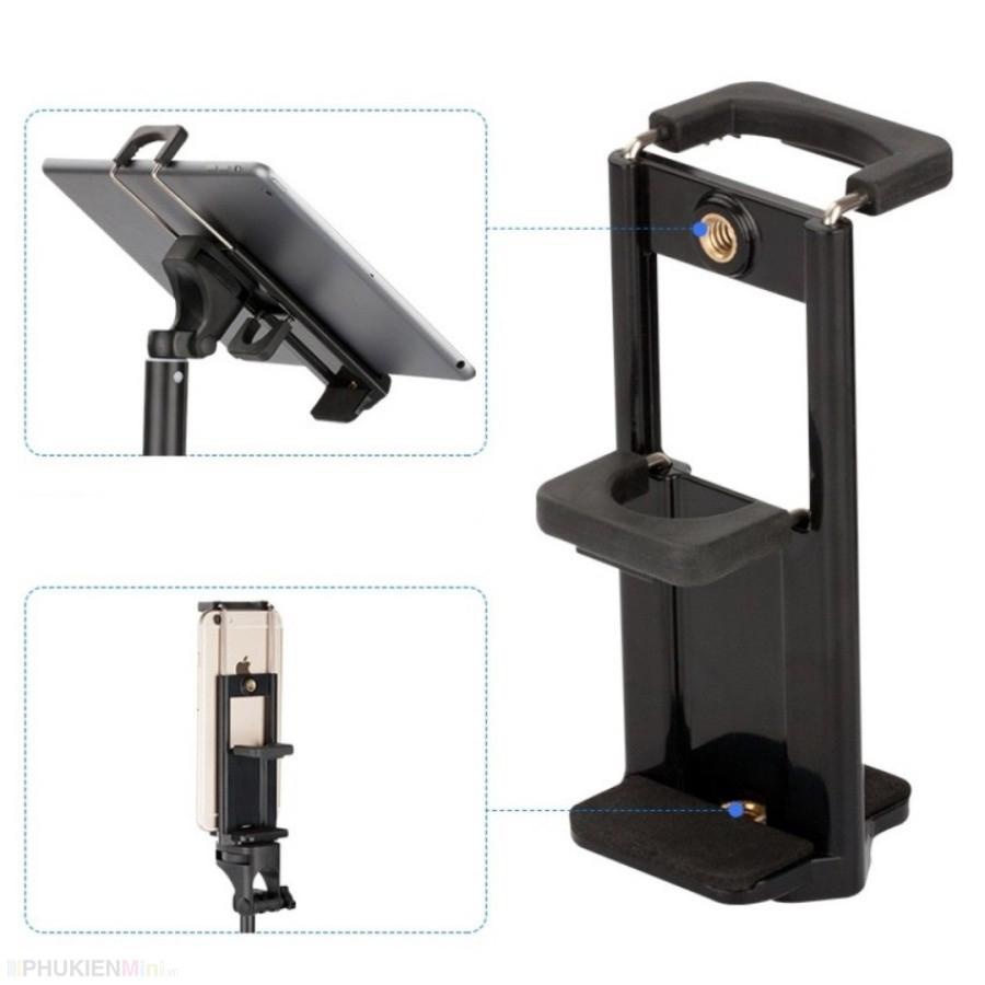 Khung kẹp đôi kẹp 2 máy cùng lúc, kẹp ipad, kẹp điện thoại gắn tripod (không gồm tripod) giá rẻ