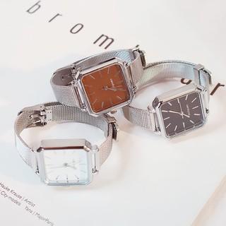 Đồng hồ nữ Dotime thời trang Candycat dây lưới mặt vuông đẹp ZO39
