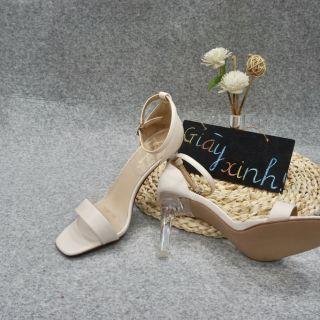 Sandal gót trong - Quảng Châu- Full box  SC02 ( Hình+ Clip Thật)