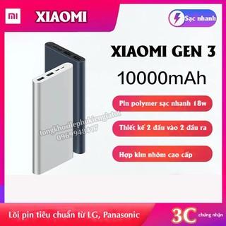 ❇♚Sạc dự phòng Xiaomi 10000mAh Gen 3 Bản Nhanh 2020 – Mi 18W Fast Charge Power Bank chính hãng
