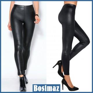 Quần Legging Nữ Bosimaz MS017 dài không túi màu đen bóng cao cấp, thun co giãn 4 chiều, vải đẹp dày, thoáng mát. thumbnail