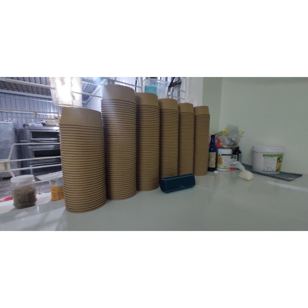 50 Tô kraft làm bánh bông lan trứng muối 1 lốc 50 cái 750ml 1000ml 1050,1300 ml