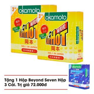 [Cam kết chính hãng] Combo 2 Hộp Bao Cao Su Gai Okamoto Dot De Hot Hộp 3 Cái