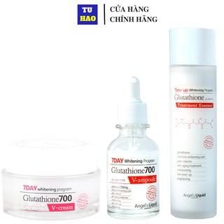 Bộ 3 Sản Phẩm Dưỡng Trắng Da 7Day Angel Liquid Whitening Program Gutathione 700V ( Toner & Serum & Kem Dưỡng) thumbnail