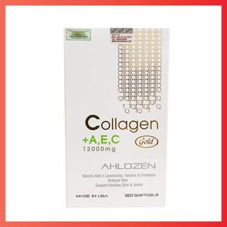 Thực phẩm bảo vệ sức khỏe collagen + A,E,C 12000mg AHLOZEN GOLD của Mỹ 180 viên [DATE 2022] thumbnail