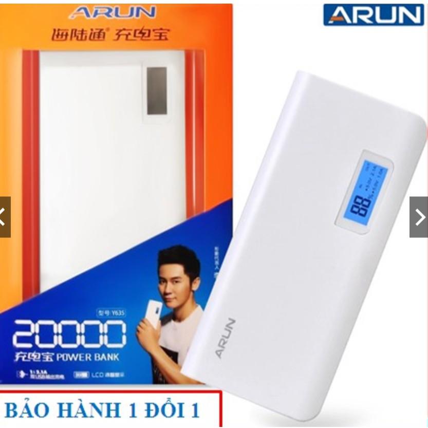 [ Chính Hãng ] Pin dự phòng Arun 20000 MAh