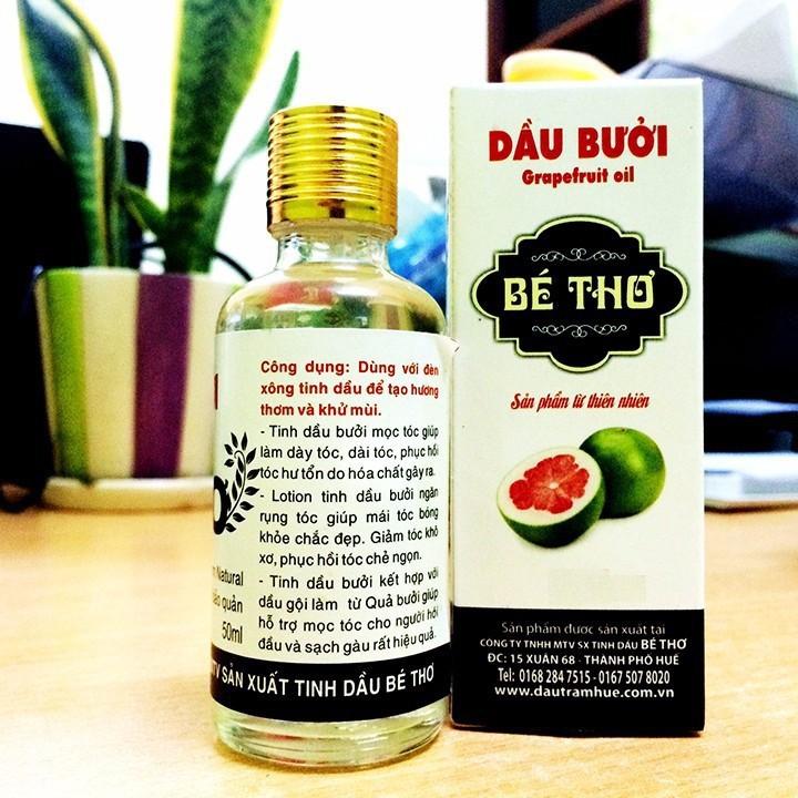 Tinh dầu bưởi dưỡng tóc Bé Thơ 10ml