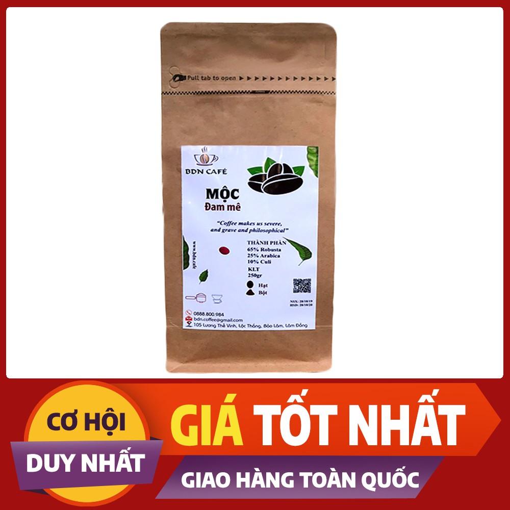 Cà Phê Nguyên Chất Rang Mộc - Thành phần hạt Robusta & Arabica & CuLi - Gói 250gr - BDN Café